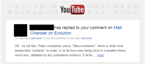 Evolution untenable?