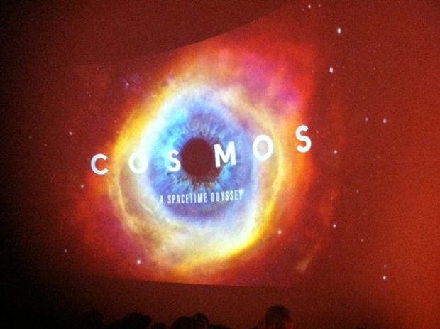 Cosmos about to play on the big screen at the UT-Arlington Planetarium.
